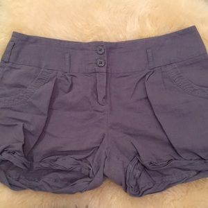 TCEC Gray Double-button Rollup Shorts